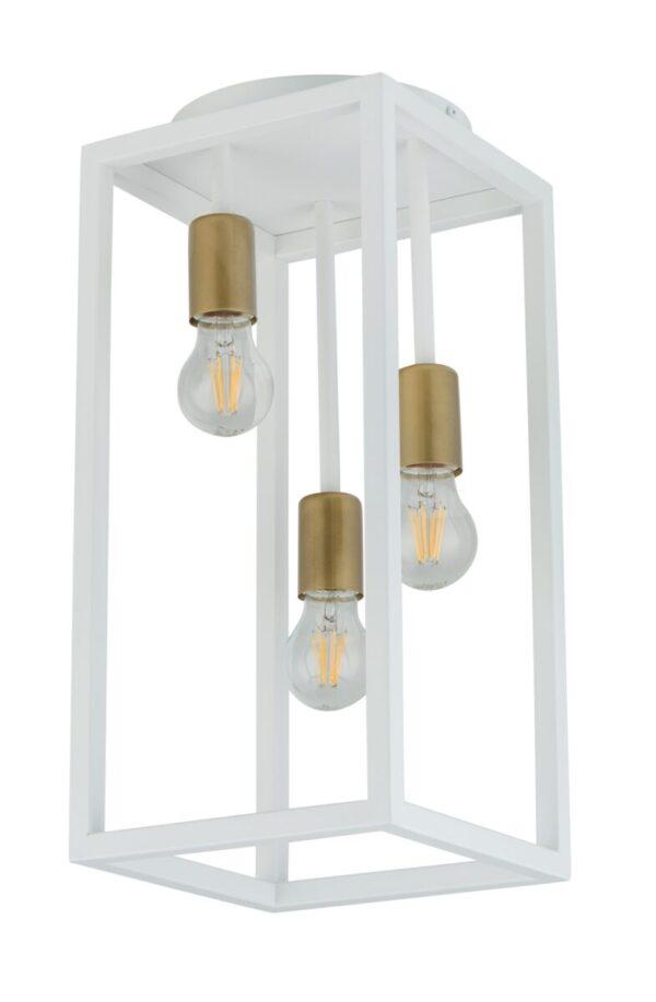 plafon biało złoty stalowy geometryczny